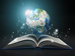 earth and open book
